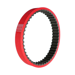 flat transmission drive belts rubber timing belt with red plastic