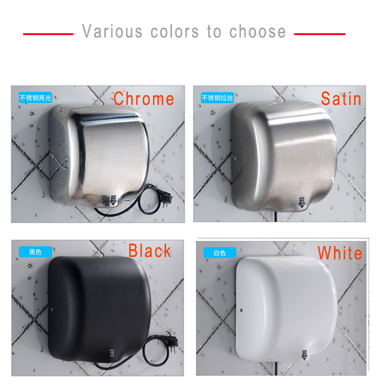 modun Bathroom automatic airblow handdryers Electric Hygiene  jet Hand Dryer for commercial washroom