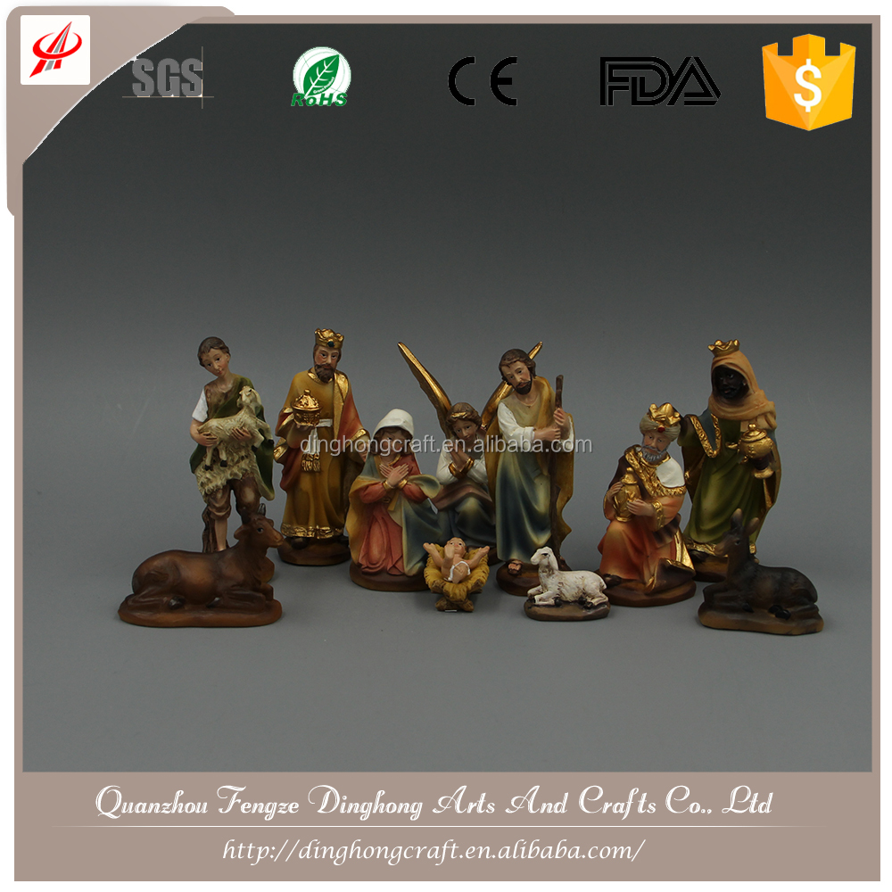Poly Resin Nativity For Europe and American Valuable Nativity Set