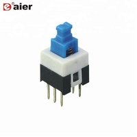 7X7MM ON ON Mini Latching Push Button Switch 6 PIN PCB