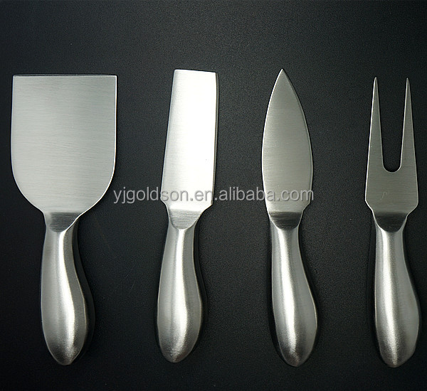 OEM full steel nice polish 4 in 1 cheese knife set