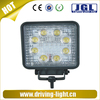 Round or square 24W Offroad LED Fog Light Work Light 12V 24V Working Lamp for Boating Hunting Fishing 3wX8pcs Epistar Chip 24W