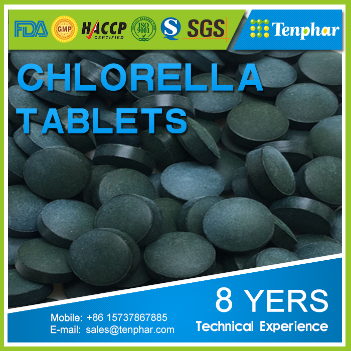 OEM Bulk Price Green Gem Chlorella Capsules Tablets