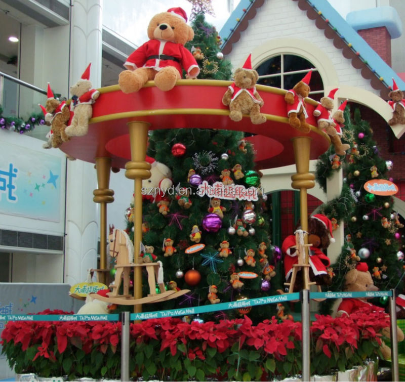 2014 giant christmas decoration of shopping mall project for Giant outdoor christmas decorations