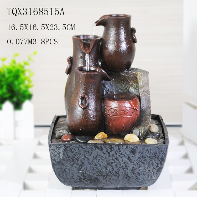 Small size home decoration water fountain with led