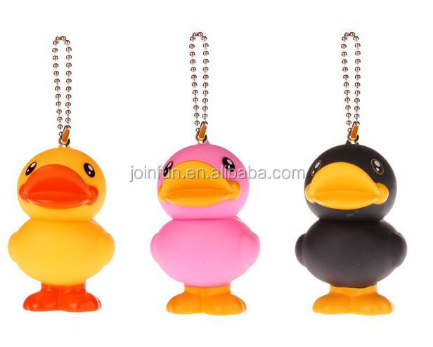 squeeky duck keychain,squeezable plastic duck keychain,plastic rubber duck keychains