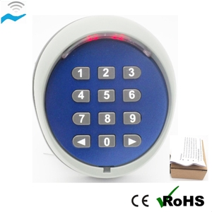 6v backlight door opener keypad with12 back-lit metal keys 433mhz
