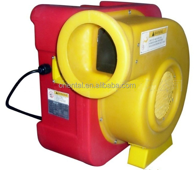 Centrifugal air blower for inflatable bouncers