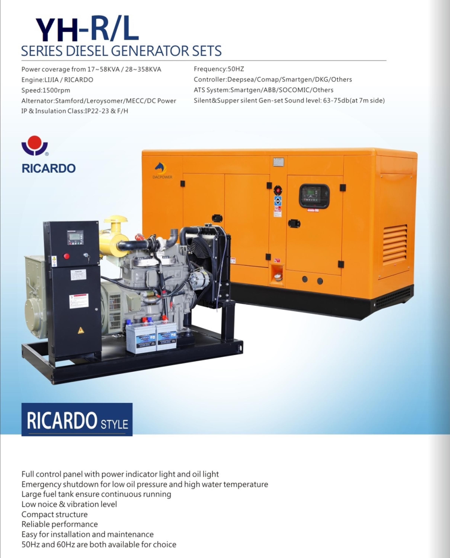 China Made Famous 12 200kw Ricardo Engine Diesel Generator Set
