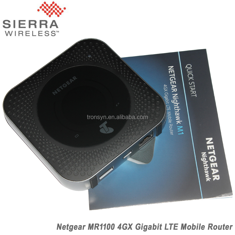 Netgear MR1100 Nighthawk 1 GB Cat16 4GX Gigabit 4G LTE Netgear Router Wireless Per LTE, WiFi E Ethernet connessione