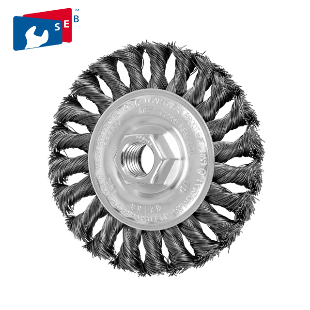 4 In Stainless Knotted Wire Wheel