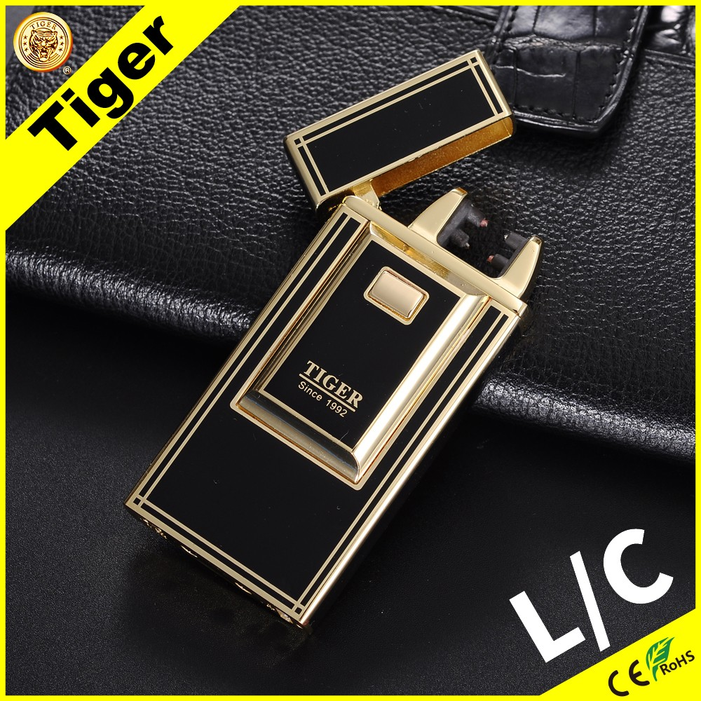 USB Lighter Rechargeable Tiger 915 B-01 Cigarette Electronic Arc Lighter