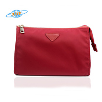 Waterproof nylon triangle red makeup bag cosmetic pouch