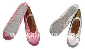 Nr 1770 any Colors Satin ballet shoes in full or Split suede sole, linning, Elastic, all sizes, logo