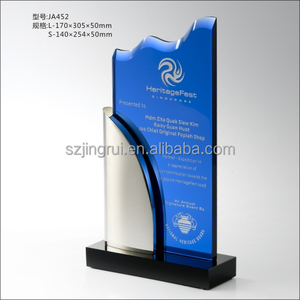 New Design Product Customeized With Best Price Made Of Metal And K9 Glass Trophy Award JA452