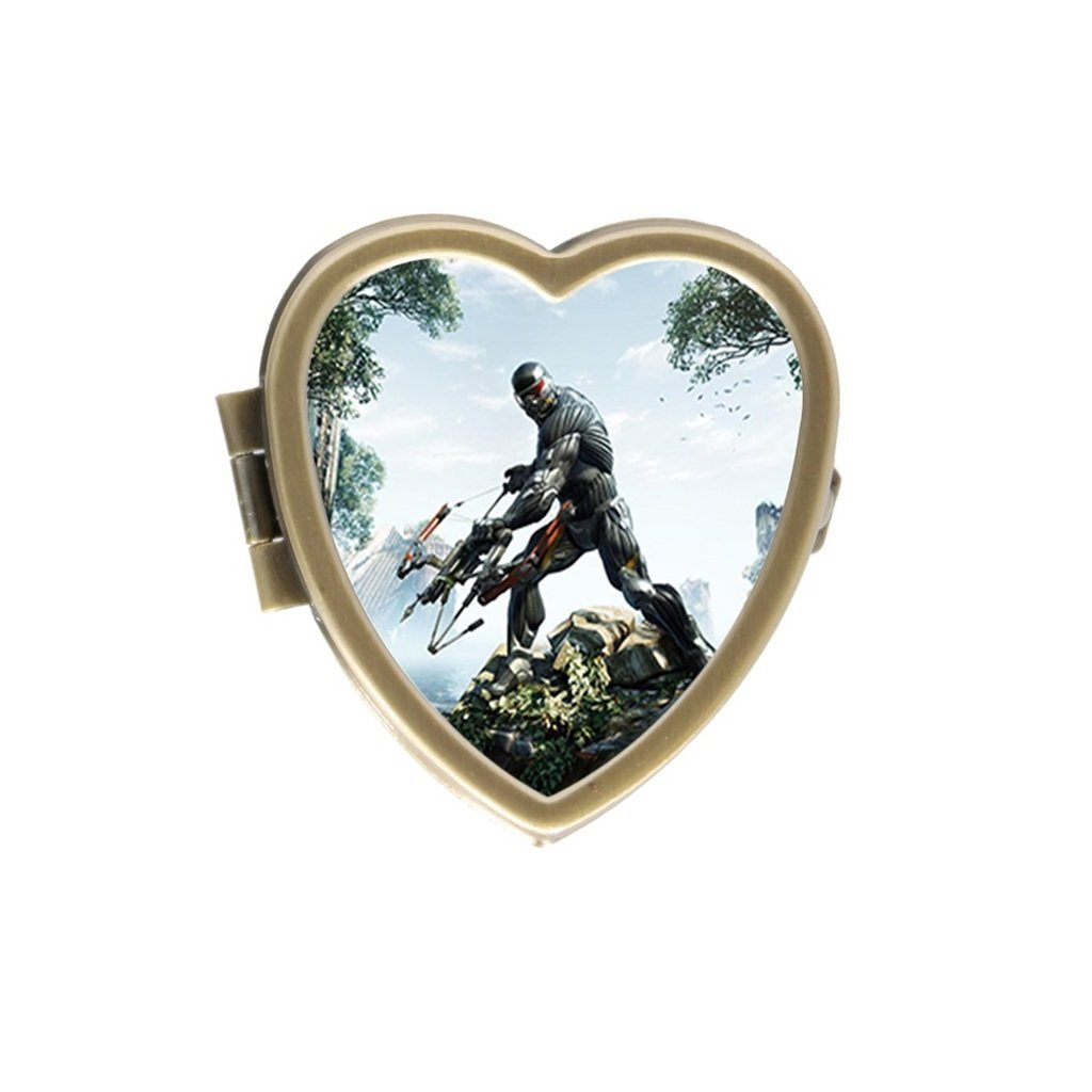 His Jpg With Wallpapers Crysis Bow Screen Prophet On The Hunt Stylishly Convenient Stainless Steel Heart Pill Box Decorative Gift Case