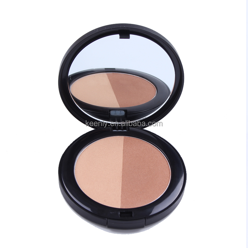Classic shape design cheek bronzer face powder with puff