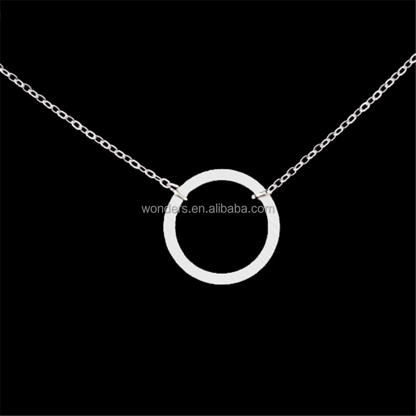 Open Circle Sahpe Ring charm Pendant necklace fashion necklace <strong>jewelry</strong> 302 stainless steel <strong>jewelry</strong> gold plated