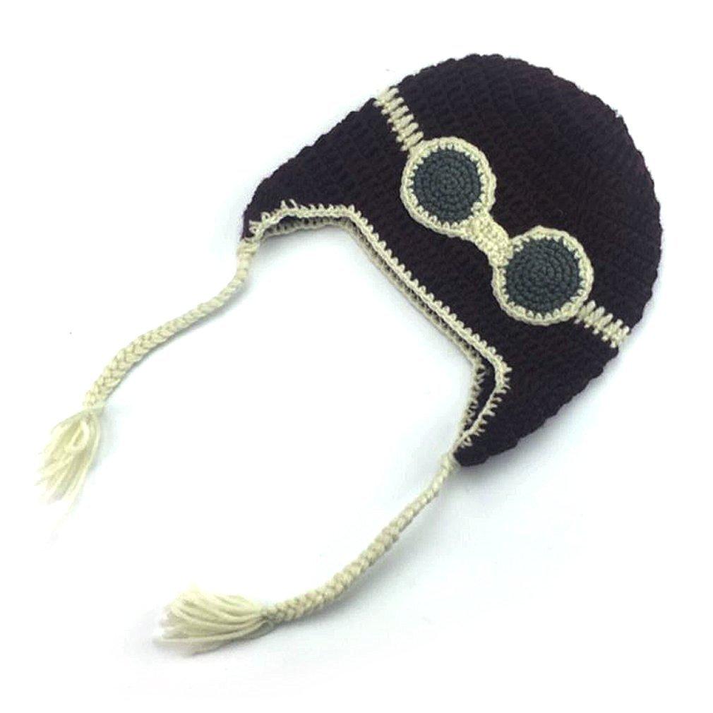 f335f8e868c Get Quotations · Fotoo Handmade Baby Pilot Hat Wool Pilot Aviator Fleece Cap  Soft Warmer Winter Hat Photo Props