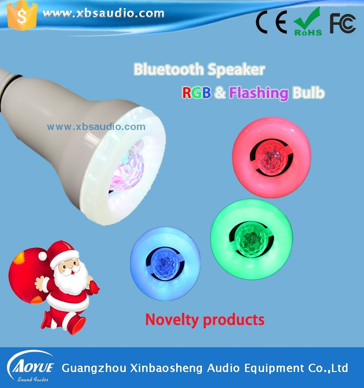 Unique Innovative Design 2-in-1 Wireless Bluetooth Speaker LED Colorful Light 7.5w