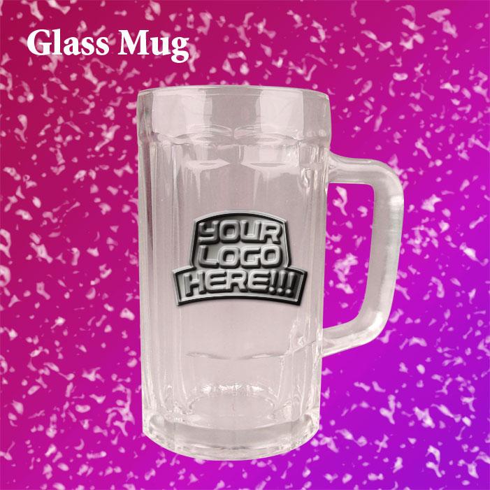 vetro tazza di metallo con logoartigianato di vetroid