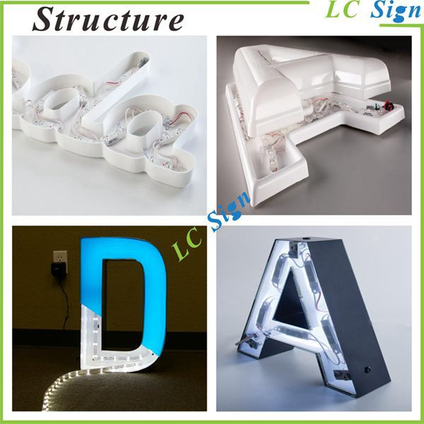 Epoxy Resin Led Acrylic Letter Signage
