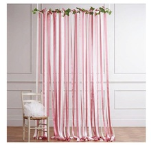 Gemonteerd Lint Tassel Garland Party decoraties lint gordijn stof Kant Kwastje Banner wedding party Achtergronden Photo Props