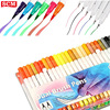 good rating 2 in 1 highlighter and ballpoint pen dual tip brush pen