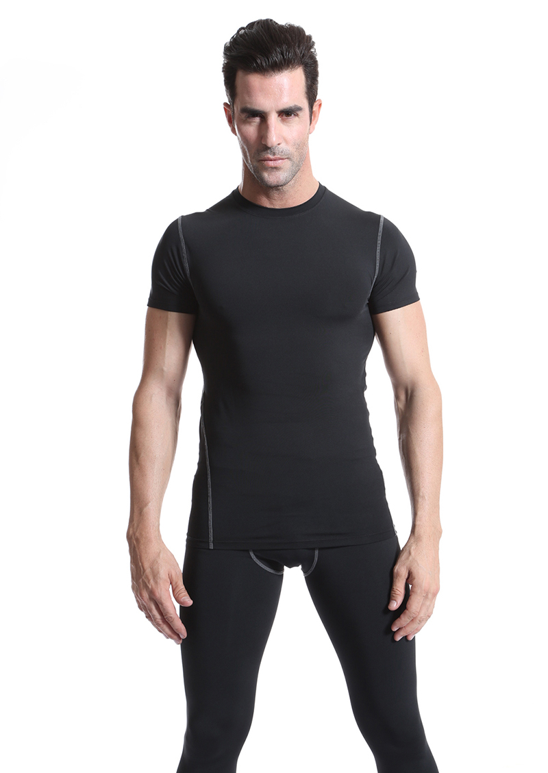 Compression Quick Dry Training Jogging Wear Men Fitness Sport Shirt