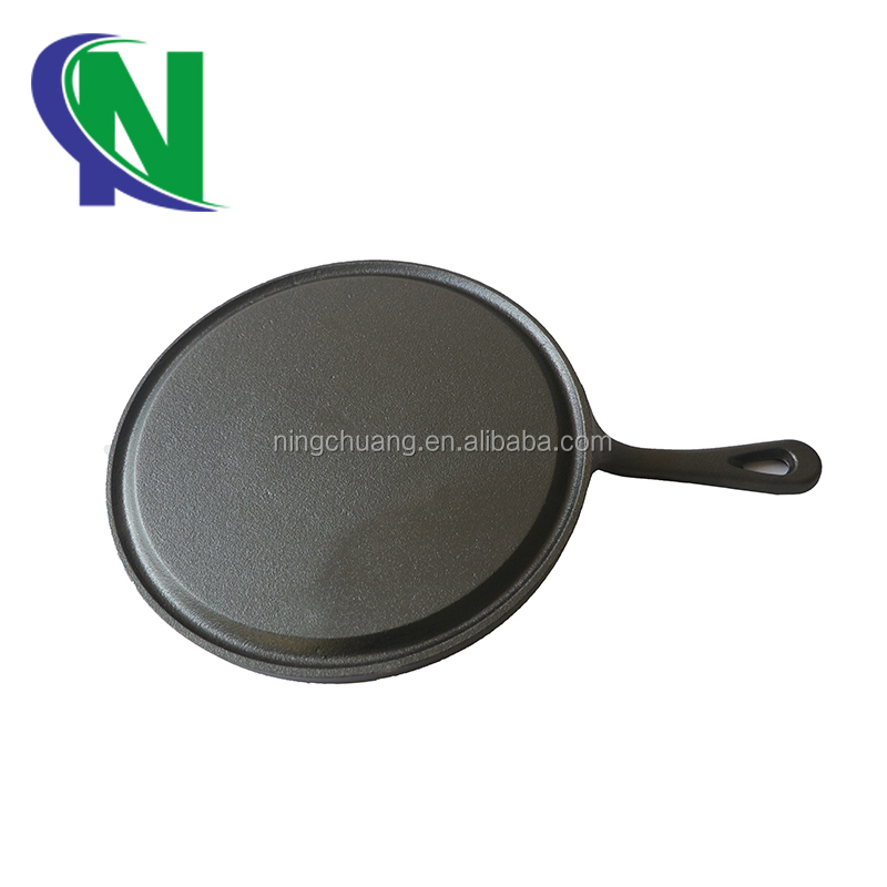 cast iron flat round griddle