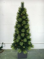 factory make yellow needle wood salver artificial christmas tree
