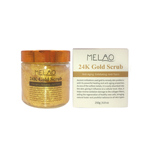The BEST 24K Gold Scrub for Face and Body 8.8 oz reduces the appearance of Sun Damage, Fine Lines and Wrinkles- Daily Moisturize