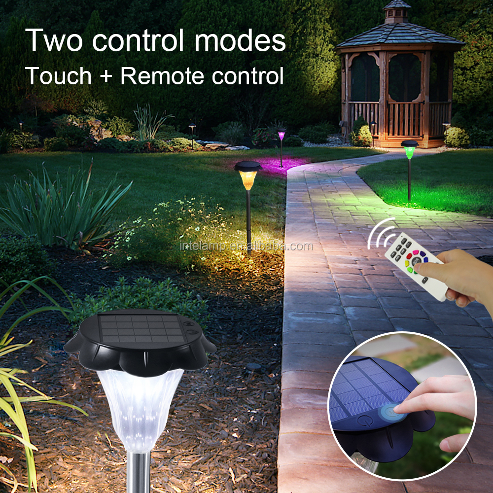 solar led touch control garden light, Outdoor Garden Lights,  Outdoor Landscape Lighting for Lawn, Yard, Patio, Walkway