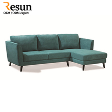 Resun Furniture pictures of modern fabric wooden corner sofa
