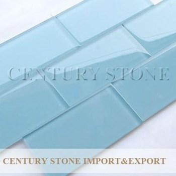 3x6 Blue Gl Subway Tile
