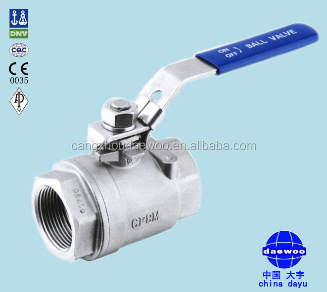 Cangzhou 2PC 2000 PSI full port Ball Valve QF207 manufacturer Price
