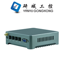Intel server computer barebone system mini server pc Firewall fanless barebone 4 nic mini server computer