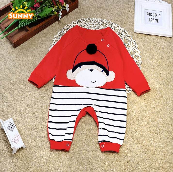 Factory stock price lovely baby romper with 100% cotton