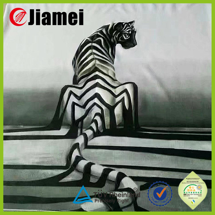 Garment accesssory factory OEM raised 3d printed textile label