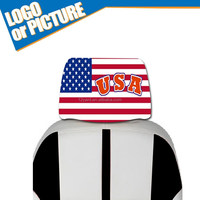Marketing !!!HOTSALE !!! 2015 Latest USA flag Design Car Headrest Cushion cover/fashion Chair headrest Cover