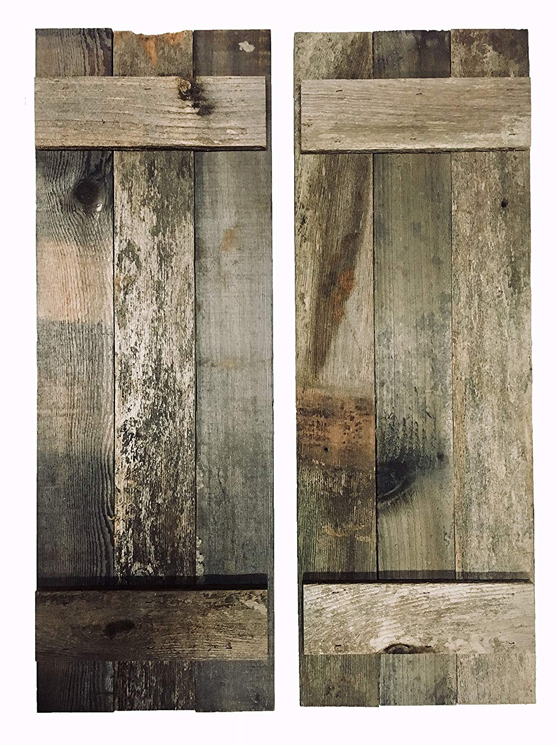 Buy Barn Wood Rustic Decorative Shutter Set Of 2 With Hinges