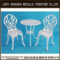 cast aluminum patio metallic furniture vintage patio bistro set SH001