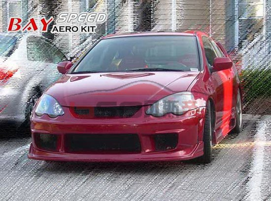 2002-2006 Rsx 2 Dr Ings Style Fiber Glass Body Kit For Acura