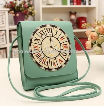 Cute Small Sling Bag Cross Body Shoulder Bag Clock Printing Small ...