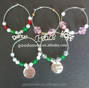 Luxury Christmas wine glass charms