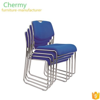 Foshan factory good quality hot stackable armless training chair with solid steel frame