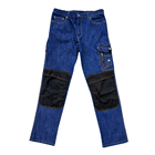 New style dark blue trousers mens jeans suppliers cargo work pants
