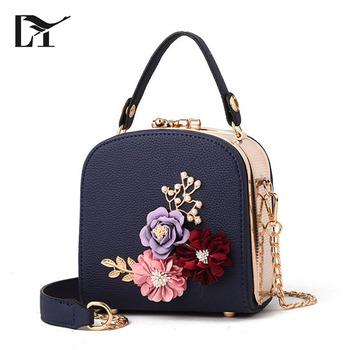 Lingyue NB1004 Taizhou Bags Manufacturer Metal Flower Newest Pictures Lady  Fashion Handbag fffcf735a8