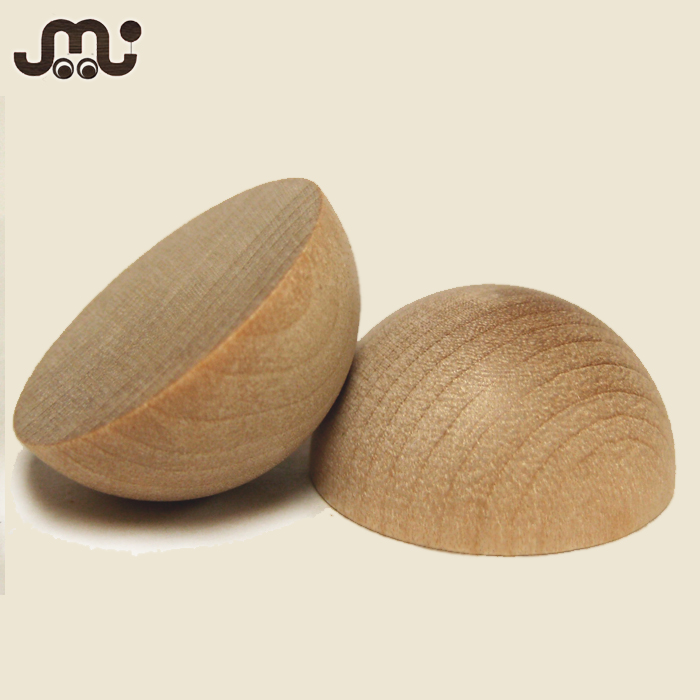 Top quality polished pure unfinished wood split ball