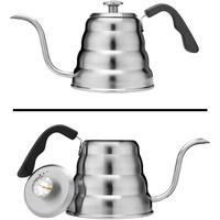 2019 Best Selling Pour Over Coffee Kettle with Thermometer for Exact Temperature/1.2 Liter Pour Over Kettle
